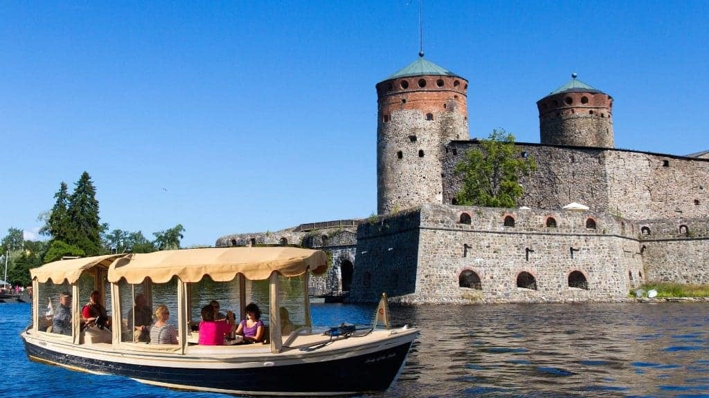 Savonlinna sightseeing cruise by ecoboat