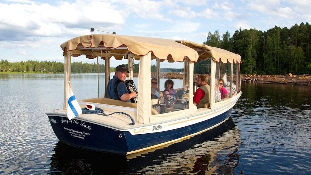 ecoboat sightseeing cruises in lake Saimaa Finland