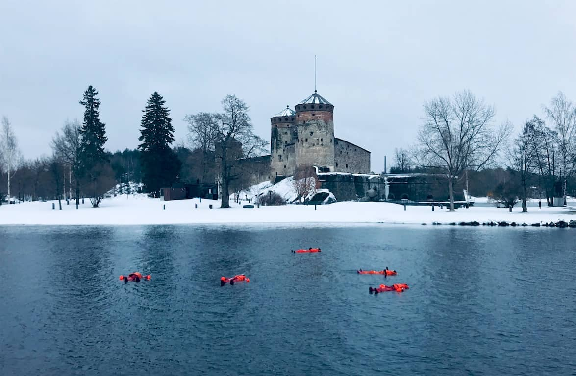 ice floating Savonlinna winter